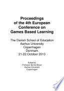 ECGBL2009  4th European Conference on Games Based Learning