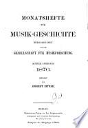 Monatshefte f  r Musikgeschichte