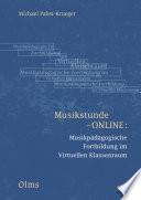Musikstunde ONLINE  Musikp  dagogische Fortbildung im Virtuellen Klassenraum