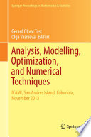 Analysis Modelling Optimization And Numerical Techniques book
