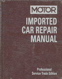 Motor Imported Car Repair Manual