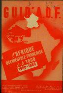 A.O.F. (Afrique Occidentale Française) mai 1951 Dakar