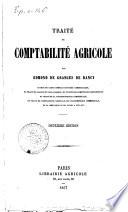 Traite de comptabilite agricole