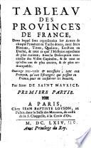 Tableau Des Provinces De France