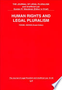 Human Rights and Legal Pluralism
