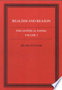 Philosophical Papers Volume 3 Realism And Reason