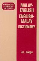 Malay English English Malay Dictionary