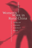Book Women's Work in Rural China