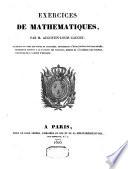 illustration Exercices de mathématiques