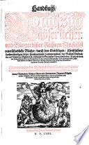 Handbuch  Vnd au  zug Kayserlicher vnd B  rgerlicher Rechten
