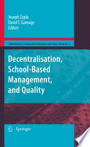Decentralisation School Based Management And Quality