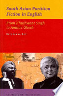 South Asian Partition Fiction In English book