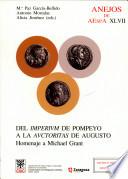 illustration du livre Del imperium de Pompeyo a la auctoritas de Augusto