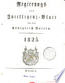 Regierungs  und Intelligenz Blatt f  r das K  nigreich Baiern