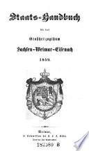 Staats-Handbuch für das Großherzogthum Sachsen-Weimar-Eisenach