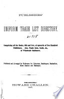 Publishers & Stationers Trade List Directory : ...