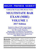Rigos Primer Series Uniform Bar Exam  Ube  Review Multistate Bar Exam  MBE  Volume 1