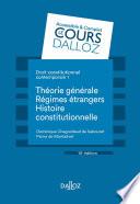 Droit Constitutionnel Contemporain 1 Th Orie G N Rale Les R Gimes Trangers Histoire 10e D