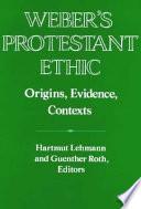 Weber s Protestant Ethic
