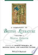 A Companion to British Literature  Volume 1