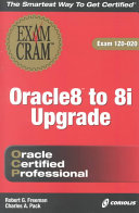 Oracle 8 to 8i Upgrade