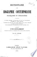 Dictionnaire de biographie contemporaine fran  aise et   trang  re