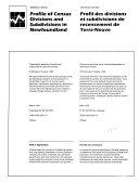 Profil Des Divisions Et Subdivisions de Rencensement de Terre-Neuve