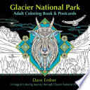 Glacier National Park Adult Coloring Book and Postcards