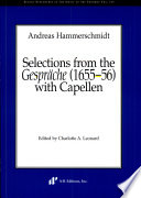 Selections from the Gespräche (1655-56) with capellen