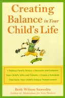Creating Balance in Your Child s Life