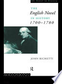 The English Novel in History 1700 1780