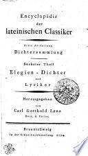 Auserlesne Elegien - Dichter und Lyriker