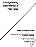 Strengthening Environmental Programs