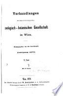 Verhandlungen der Kaiserlich K  niglichen Zoologisch Botanischen Gesellschaft in Wien