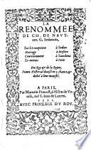 La Renommee  sus les receptions    Sedan  mariage    M  siere  couronnement    Saindenis  et entr  es    Paris du Roy et de la Royne   Poeme Historial divis   en 5  chants
