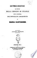 Istruzione al popolo della diocesi di Fiesole sul domma dell immacolato concepimento di Maria santissima