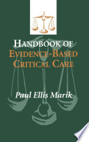 Handbook of Evidence Based Critical Care