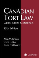 Canadian Tort Law