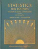 Student Solutions Manual for Statistics for Business