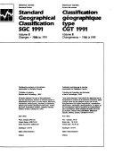 Classification G  ographique Type CGT 1991   Volume III   Changements   1986    1991e