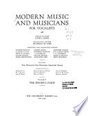 Modern Music and Musicians  The pianist s guide