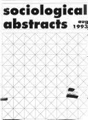 Sociological Abstracts Pdf/ePub eBook