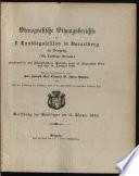 Stenographische Sitzungsberichte samt Beilagen