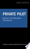 Private Pilot Airman Certification Standards Airplane
