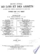 Journal du Palais  Pandectes fran  aises p  riodique