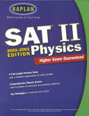 Kaplan SAT II Physics  2002 2003