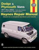 Haynes Dodge   Plymouth Vans 1971 2003