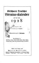 K  rschners deutscher Literatur Kalender
