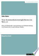 Neue Kommunikationsmöglichkeiten im Web 2.0