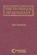 Ebook The Technique of Advocacy Epub John Munkman Apps Read Mobile